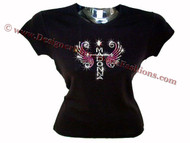 Madonna Wings Reinvention Swarovski Crystal Rhinestone T Shirt Top