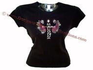Madonna Swarovski Rhinestone Ladies Tee Shirt