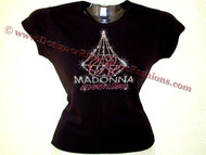 Madonna Reinvention Concert Tour Swarovski Crystal RhinestoneT Shirt Top