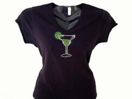 Margarita Bling Swarovski Rhinestone Party T Shirt