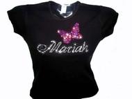 Mariah Carey Swarovski Crystal Rhinestone Concert T Shirt Top