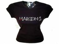 Bling Maroon 5 Swarovski Rhinestone T Shirt