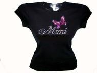 Mimi Mariah Carey Swarovski crystal rhinestone tee shirt