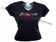 Motley Crue Multicolored Swarovski Crystal Rhinestone Concert T Shirt Top