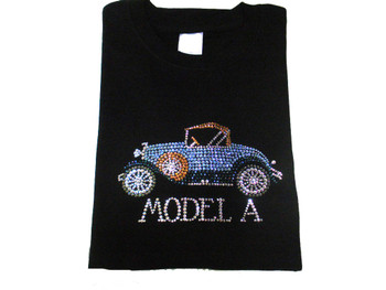 Model A Swarovski Crystal Rhinestone Bling T Shirt