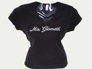 Mrs. Personalized Bride Swarovski Crystal Rhinestone T Shirt