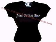 Mrs. Nikki Sixx of Motley Crue Swarovski Crystal Rhinestone Concert T Shirt