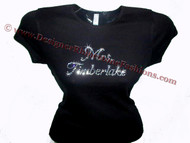 Mrs. Justin Timberlake Swarovski Rhinestone T Shirt Concert Tour Design