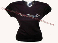 Mrs. Tommy Lee Motley Crue Swarovski Crystal Rhinestone T Shirt Top