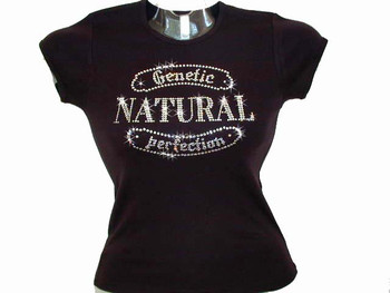 Natural Perfection Swarovski Crystal Rhinestone T Shirt