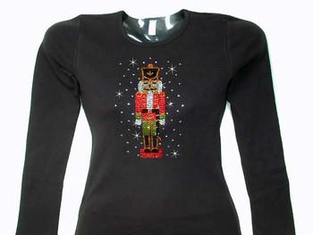 Christmas Nutcracker Swarovski crystal rhinestone t shirt