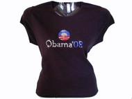Barack Obama President Swarovski Crystal Rhinestone T Shirt
