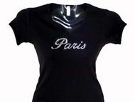 Paris Swarovski rhinestone Tee Shirt