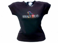 Jimmy Buffet Parrot Head Swarovski Crystal Rhinestone Concert T Shirt