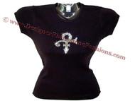 Prince Symbol Tribute Rhinestone T Shirt