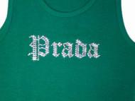 Prada Inspired Swarovski Crystal Rhinestone T Shirt Design