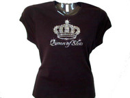 Queen Of Slots Las Vegas Rhinestone Gambling T Shirt