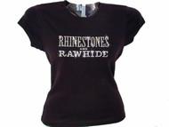 Rhinestones and Rawhide Swarovski crystal country t shirt