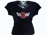 REO Speedwagon Logo Swarovski Crystal Rhinestone T Shirt