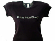 Restore Natural Beauty Swarovski Crystal Rhinestone Spa T Shirt