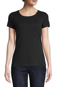 Scoop neck short sleeve shirt