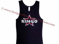 Ringo Starr The Beatles Swarovski Crystal T Shirt Tank Top