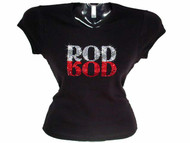 Rod Stewart Swarovski Crystal Rhinestone Studded Concert T Shirt