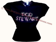 Rod Stewart Swarovski Crystal Rhinestone T Shirt Top
