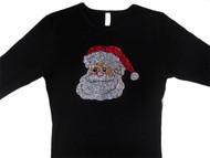 Santa Swarovski Rhinestone Bling T Shirt