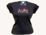 Seinfeld Swarovski Crystal Rhinestone Tee Shirt