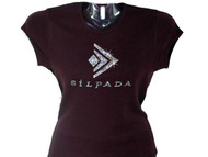 Silpada Rhinestone Logo T Shirt with Swarovski crystal bling