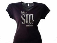 """""""I Feel A Sin Comin' On"""" Swarovski Rhinestone T Shirt"""