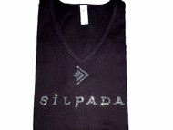 Sparkly Silpada Rhinestone Logo Bling T shirt