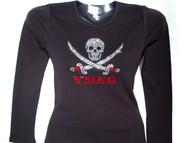 Gasparilla Skull & Swords Rhinestone Bling T Shirt