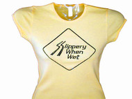 Slippery When Wet Swarovski Crystal Rhinestone T Shirt