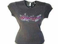 Sugarland Swarovski Crystal Rhinestone Concert T Shirt