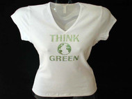 Think Green Earth Swarovski Rhinestone T Shirt