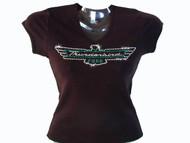 Ford Thunderbird Logo Swarovski Crystal Rhinestone T Shirt
