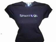 Tiffany & Co. Inspired Swarovski Crystal Rhinestone T Shirt