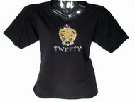 Tweety Bird Swarovski crystal rhinestone bling t shirt