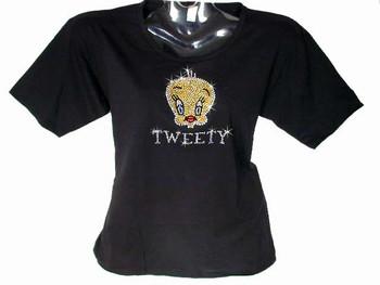 Tweety Bird Swarovski crystal rhinestone bling t shirt