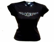 U2 concert tour Swarovski crystal rhinestone t shirt