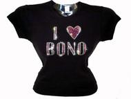 U2 Bono Rhinestone sparkly tee shirt