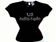 U2 Hello Hello Swarovski rhinestone concert t shirt