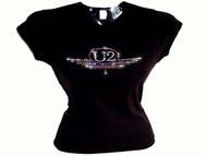 U2 Sparkly Rhinestone Ladies Concert T Shirt
