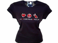 U2 Vertigo Symbols Swarovski Crystal Rhinestone Concert T Shirt