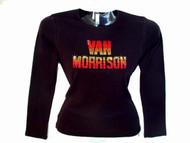 Van Morrison Swarovski Crystal Rhinestone T Shirt Top