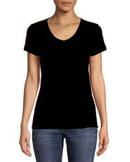 Ladies v neck short sleeve shirt