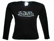 Von Bitch Swarovski Crystal Rhinestone T Shirt Design