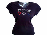 Warrior Swarovski Crystal Rhinestone T  Shirt